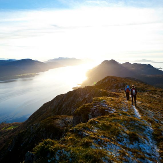 hiking through mountains - mission
