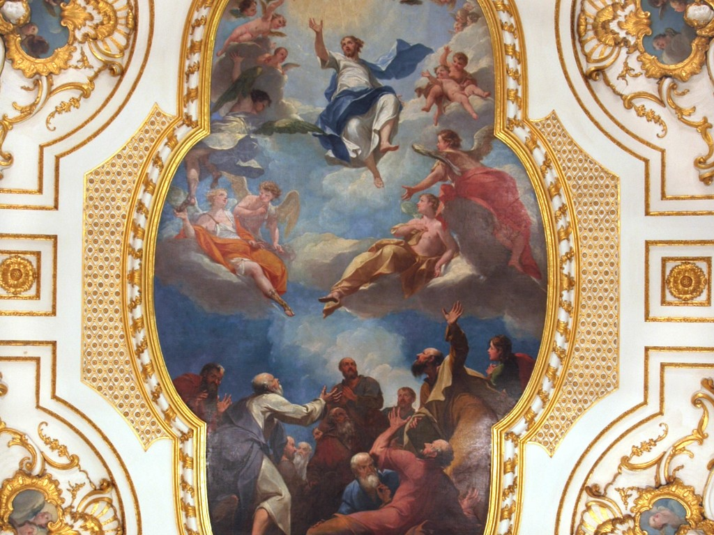 Ascension of Christ - St. Augustine -1- Painting Christ Ascending Ceiling Piece