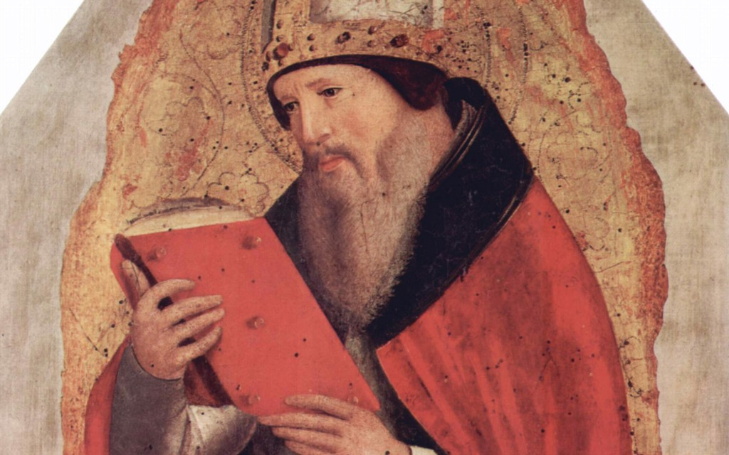 Christ the New Solomon the Church the New Temple - Augustine -1- Painting Portrait of Augustine