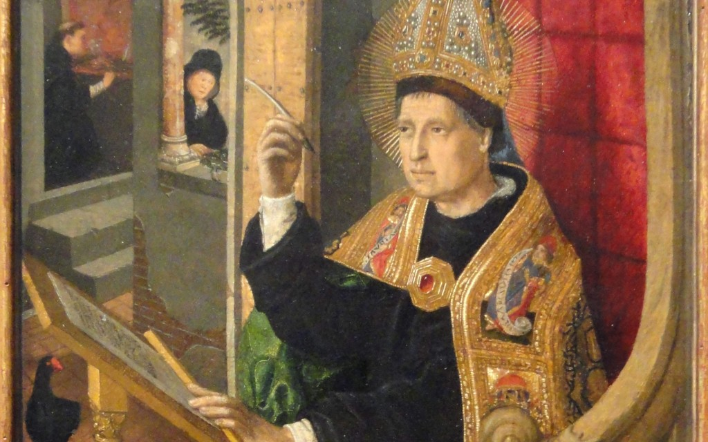Christian Leadership Entails Rigorous Accountability--Augustine -1- Painting Augustine Seated