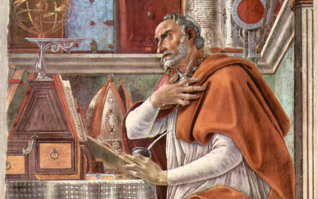 Christ's Second Coming--St. Augustine -1- Painting Augustine in his Study