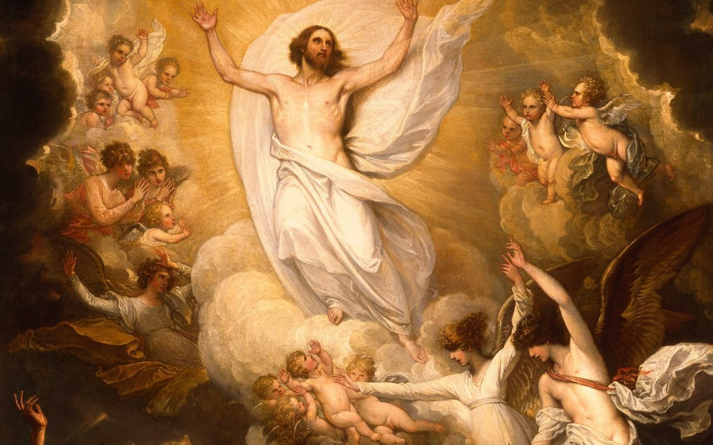 Easter Alleluia-St Augustine -1- Painting Resurrection of Christ