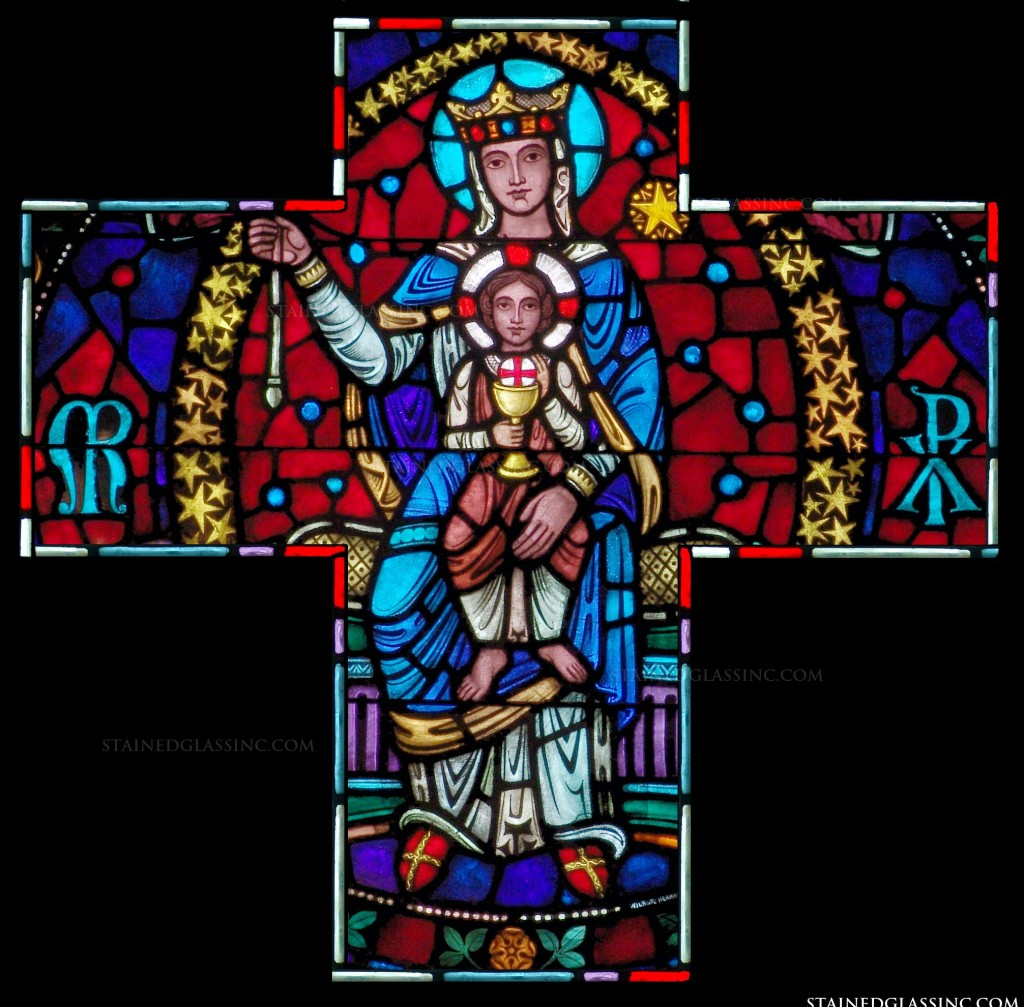 _Triumph and Exaltation of the Holy Cross--Andrew of Crete -1- Stained Glass Cross