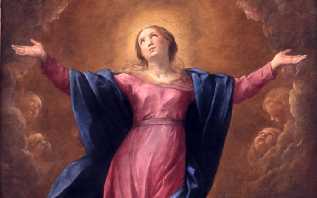 _Virgin Mary, Mother of the Re-created World -- St. Anselm - 1 - Mary in the Sky