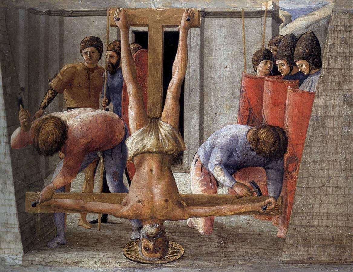 amen peter-crucified upside down