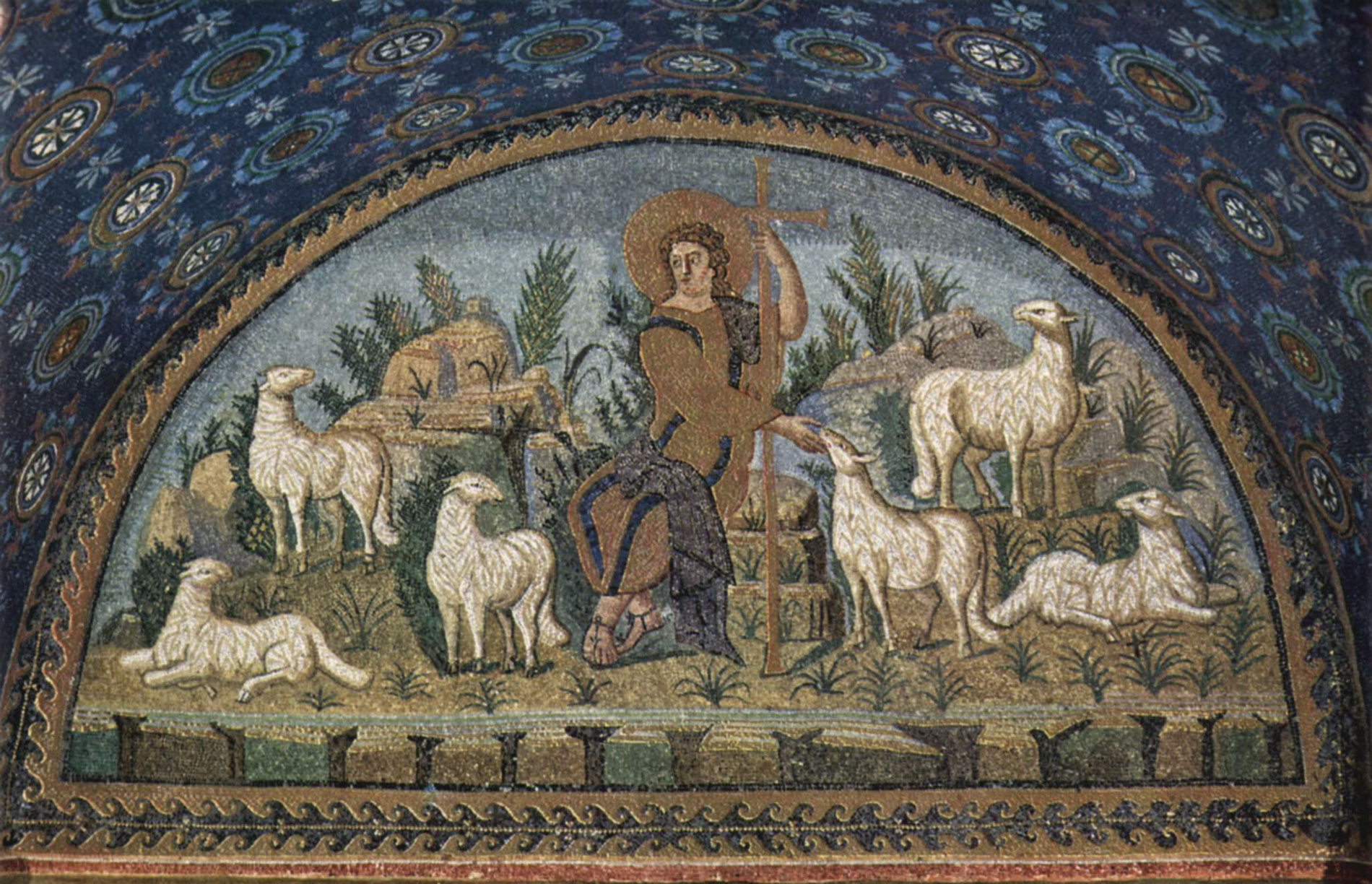 mosaic Christ Good Shepherd Augustine Ezekiel Paul pastors shepherds who feed themselves flock sheep