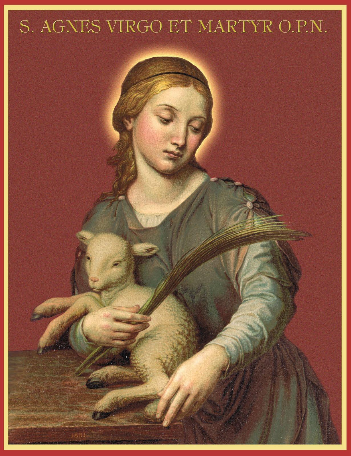 feast St. saint agnes lamb ambrose martyr martyrdom january 21