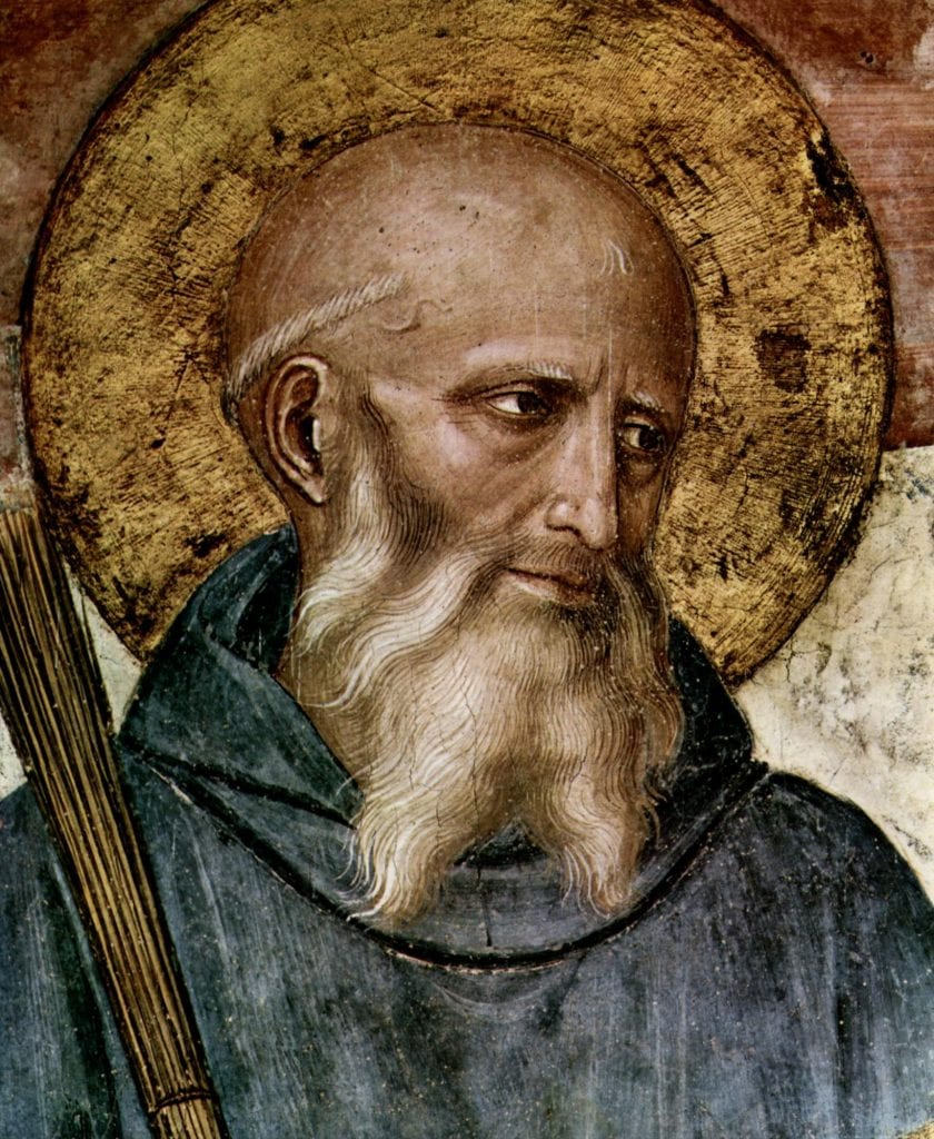 St. Benedict of Nursia patron of Europe civilization ora et labora