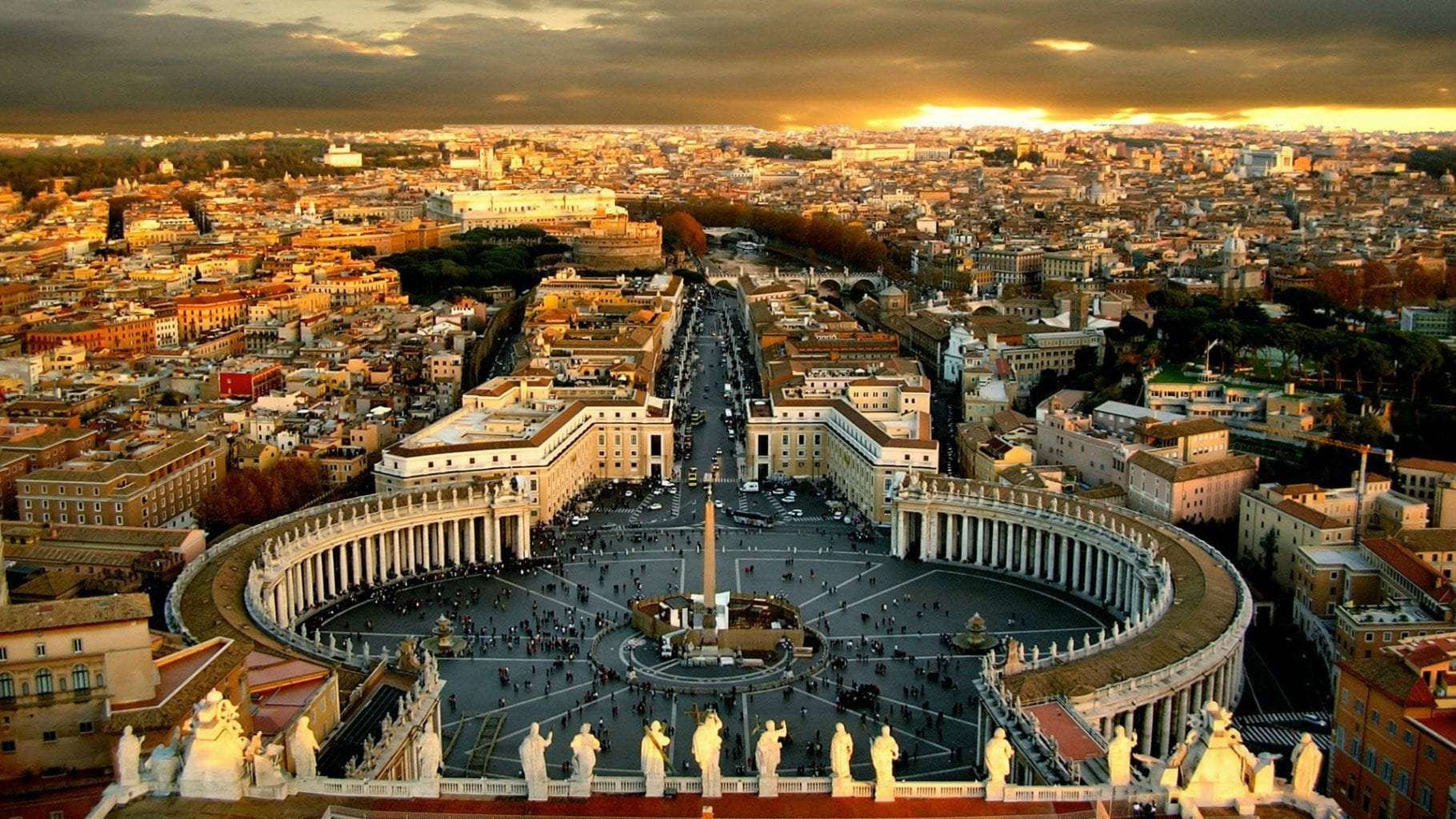 st. peter's peter pope king david bible square piazza vatican Rome pilgrimage tour italy 21st Sunday Ordinary Time A papacy keys to the kingdom Matthew 16