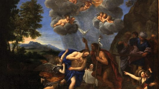 Proclus baptism of Christ fire immersed in water