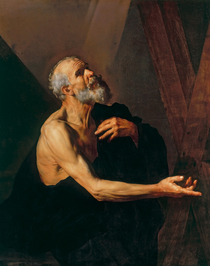 St Andrew praying