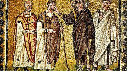 man born blind mud sacraments lion 4th fourth sunday of Lent A uomo nato cieco fango sacramenti Leone quarta domenica di quaresima