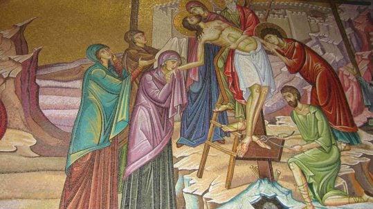 Jesus taken off the cross holy week triduum devotions prayers retreat