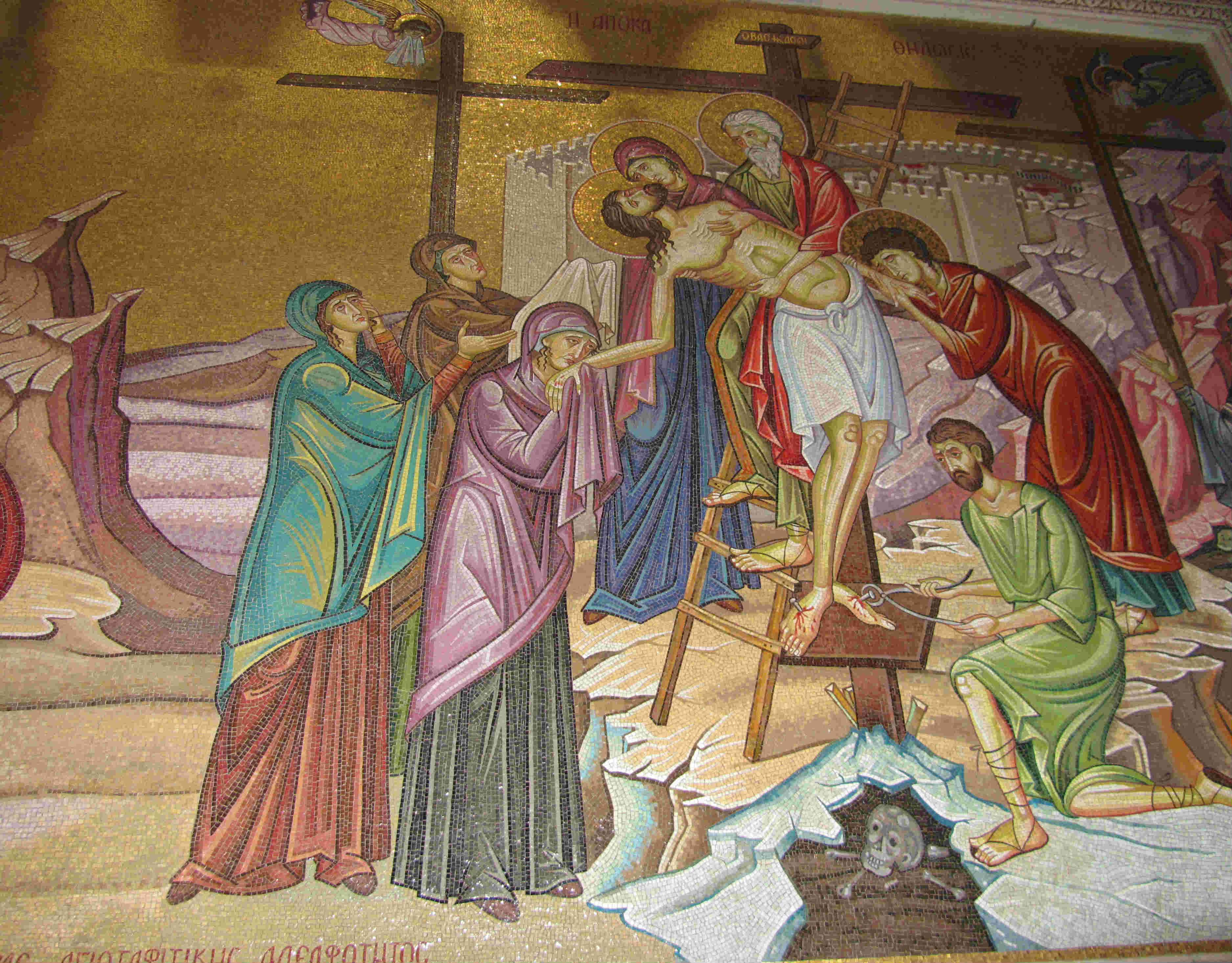 Jesus taken off the cross holy week triduum devotions prayers retreat