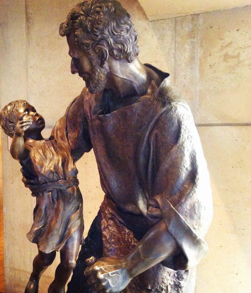 st joseph w child statue