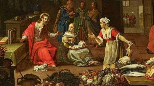 mary martha bethany fullness catholic distraction 16th sunday ordinary c
