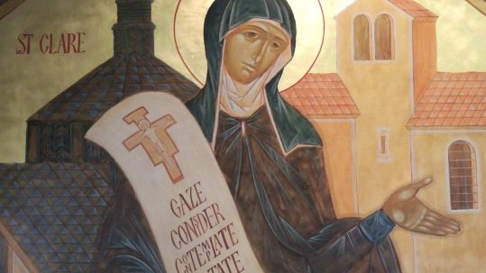 St. Clare of Assisi August 11 indescribable delights of Christ the bridegroom spouse unclouded mirror beauty poverty