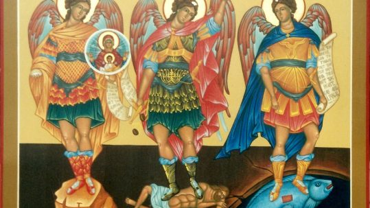 St. Gregory the Great on Archangels Michael, Gabriel, Raphael feast September 29