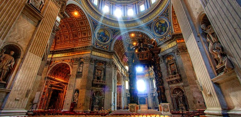 Italy Q A St Peters interior