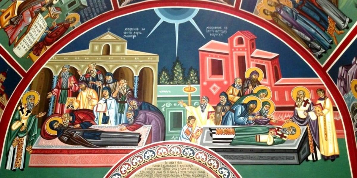 st cyril methodius valentine's day february 14 slavs slavic cyrillic