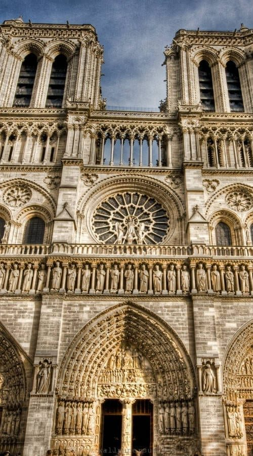 notre damn cathedral paris france pilgrimage masonry