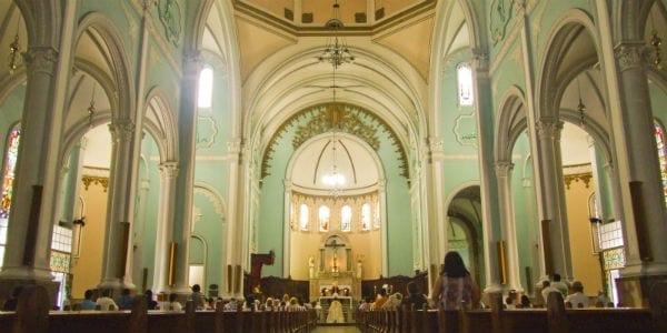 sanctuary during mass Holy Land, Holy Week masonry