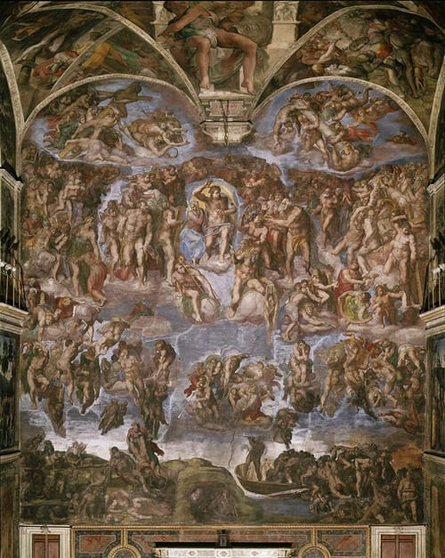 michelangelo painting old church