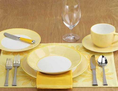 set table yellow