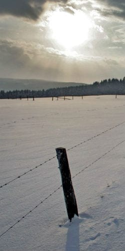 snowy field fence sun Incarnation and Human Dignity - Peter Chrysologus masonry