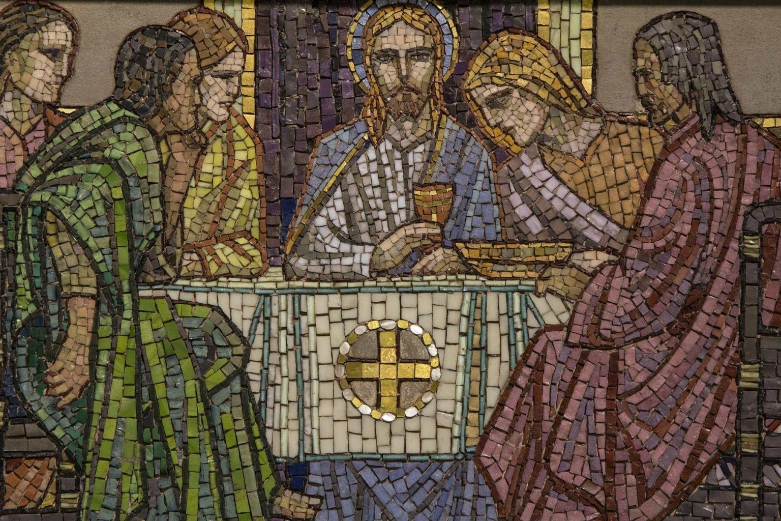 Eucharist mosaic last supper
