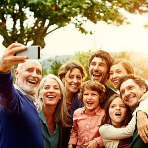 happy family selfie smile smiling cellphone cell phone