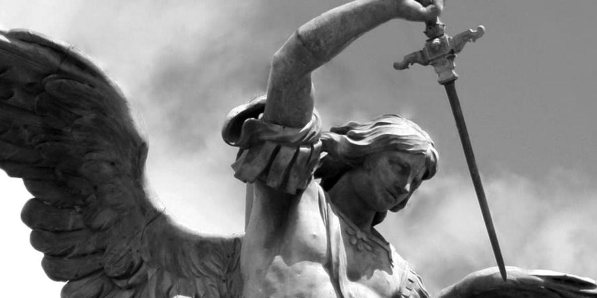 St Michael archangel statue demons devils authority evil spirits beelzebub satan 4th sunday ordinary time b spiritual warfare