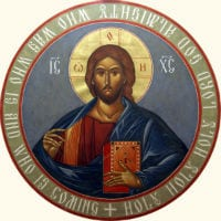 christ pantocrator circle jesus book small