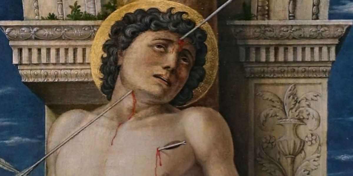 saint sebastian martyrdom arrow arrows tree tied wide facebook
