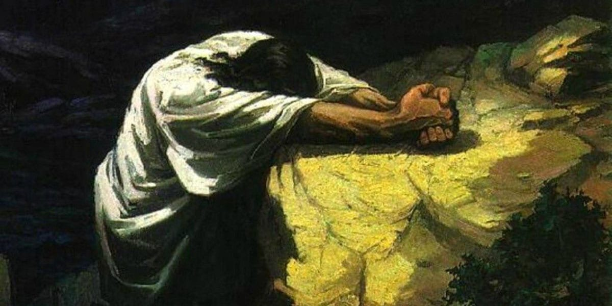 gethsemane agony garden love stronger than death 5th Sunday Lent B comfort fruitfulness grain of wheat fruit