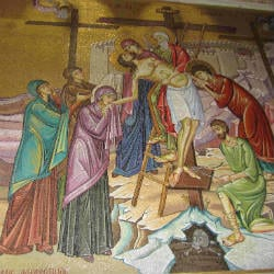Jesus taken off the cross holy week triduum devotions prayers retreat small