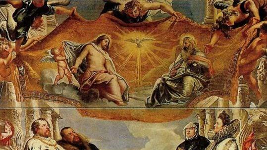 holy trinity panting jesus holy spirit god