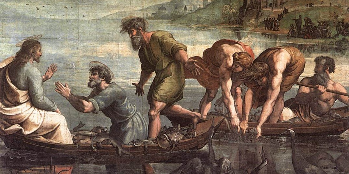 papacy peter pope successor shepherdrome shepherd fishermanRaphael miraculous draught catch of fish