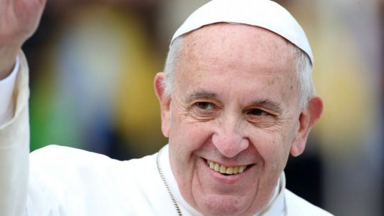 pope francis smiling waving call to holiness rejoice be glad gaudete et exsultate