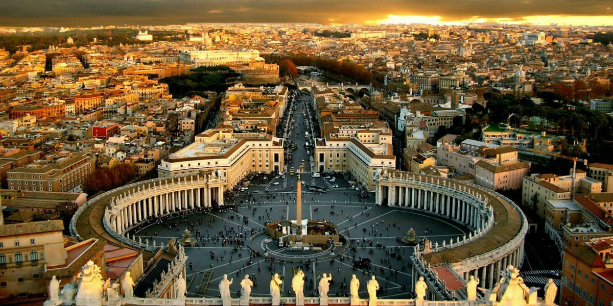 st. peter's peter pope king david bible square piazza vatican Rome pilgrimage tour italy 21st Sunday Ordinary Time A papacy keys to the kingdom Matthew 16 facebook