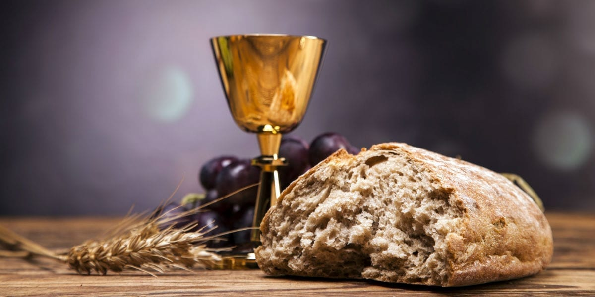 bread and grapes multiplication of the loaves and fishes