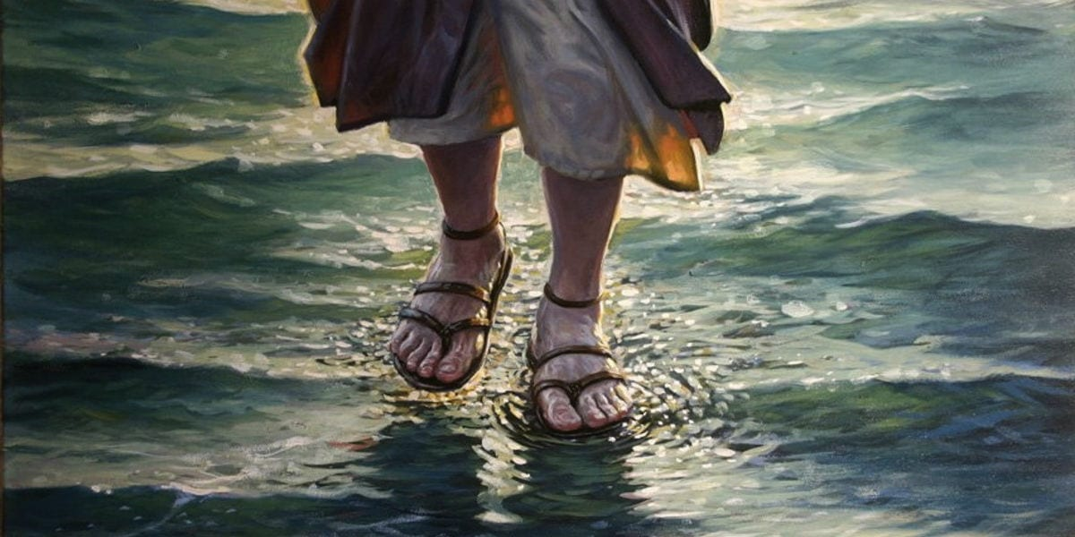 jesus walking on water Hidden Meaning of the Loaves & Fishes