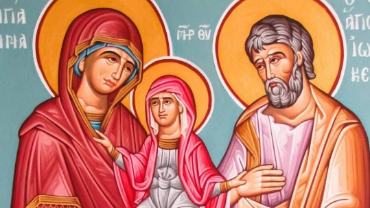 Joachim Anna Ann Anne Role Grandparents Podcastsaints icon mother father family virgin mary july 26