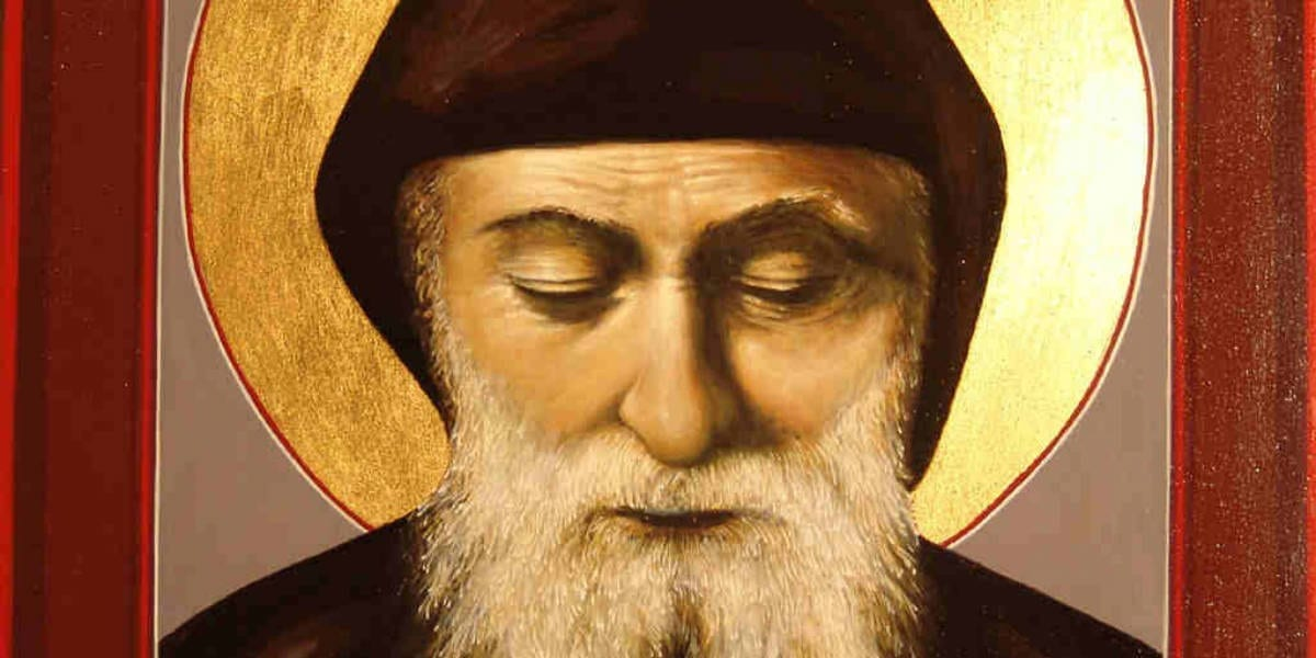 saint charbel makluf eyes closed july 24