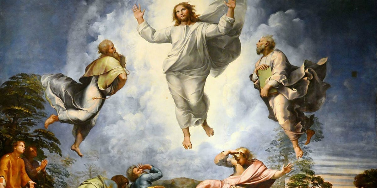st leo glory law grace truth transfiguration by Raphael