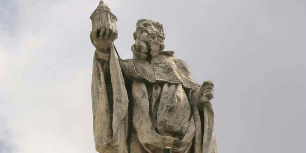 saint romuald statue mystic abbot peter damian