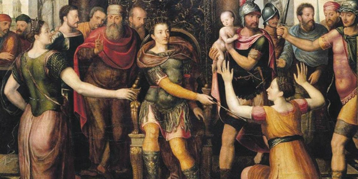 judgement of solomon the rich young man and king solomon