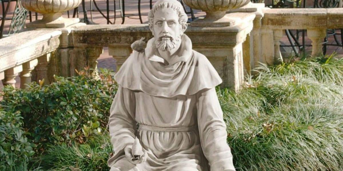 saint st. francis statue environmentalist patron environment animals