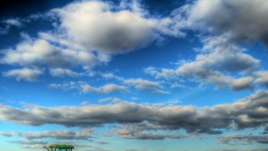blue cloudy sky above a farm The Presentation - Simeon sees the Light podcast facebook