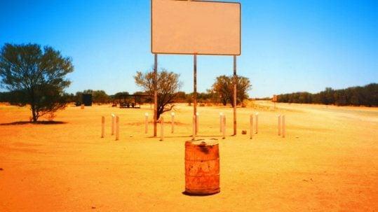 desert road and sign St. Anthony, the Desert & Spiritual Warfare masonry